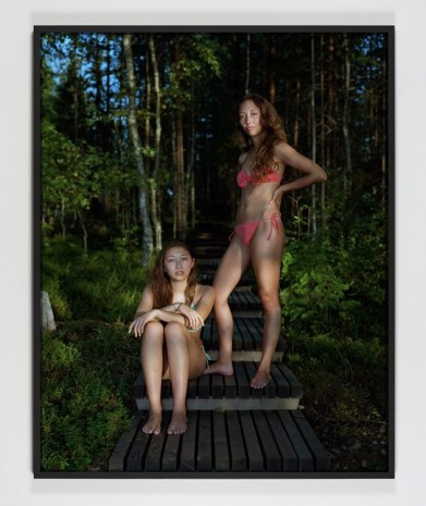 Rineke Dijkstra, Sophie and Alice, Savolinna, Finland, August 3, 2013, 2013, printed in 2017 , Marian Goodman Gallery