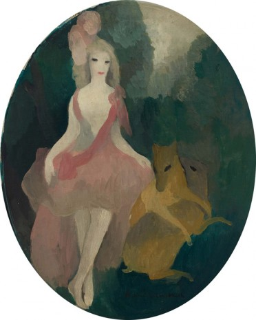 Marie Laurencin, Femme aux deux biches (Woman with Two Does), 1921 , Galerie Buchholz