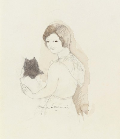 Marie Laurencin, Untitled [Young girl and kitten], n.d. , Galerie Buchholz