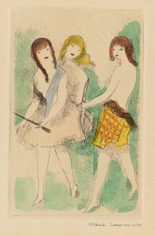 Marie Laurencin, Les trois jeunes filles jouent à l'arc (Three Young Girls Playing with a Bow and Arrow), 1926 , Galerie Buchholz