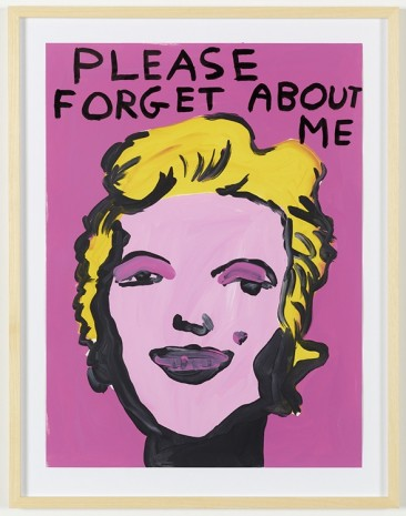 David Shrigley, Untitled (Please Forget About Me), 2012, Galleri Nicolai Wallner