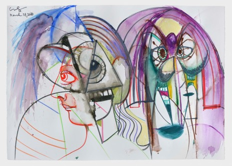 George Condo, Together and Apart, 2020 , Hauser & Wirth