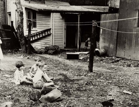 Carl Mydans, Children playing in back yard of slum area near Capitol. Area is inhabited by both blacks and whites. Washington, DC, 1935-42 , Howard Greenberg Gallery