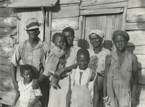 Carl Mydans, Lewis Hunter, Negro client, with his family, Lady's Island, Beaufort, South Carolina, June 1936 , Howard Greenberg Gallery