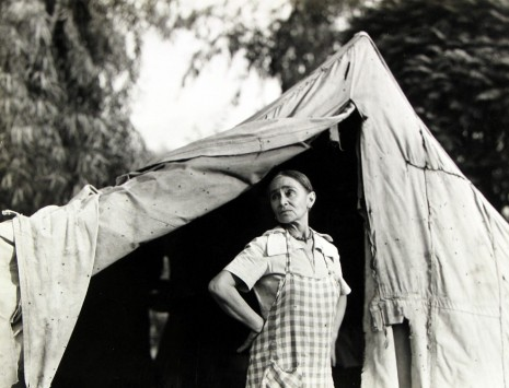 Dorothea Lange, Greek migratory woman living in a cotton camp near Exeter, California., c.1935 , Howard Greenberg Gallery