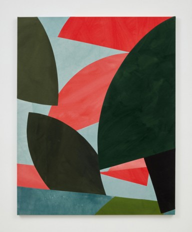 Sarah Crowner , Sliced Tropics, Leaves and Shadows, 2019 , Casey Kaplan