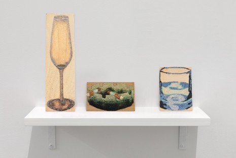 Gina Fischli , Together (Partyglas, Ash, Waterglass), 2020 , David Zwirner