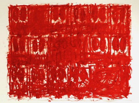 Rashid Johnson, Untitled Anxious Red Drawing, 2020 , Hauser & Wirth