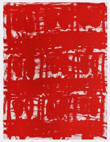 Rashid Johnson, Untitled Anxious Red Drawing, 2020, Hauser & Wirth