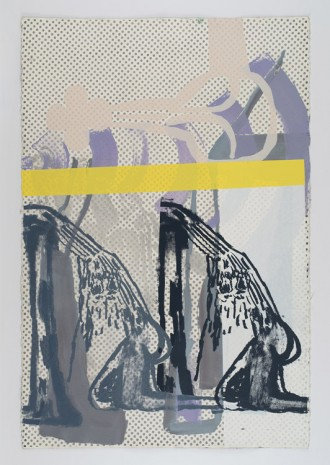 Amy Sillman, Dub Stamp (2B), 2019, Capitain Petzel