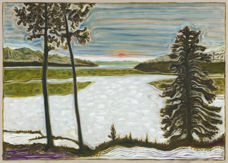 Billy Childish, midnight sun / frozen lake, 2017 , Lehmann Maupin