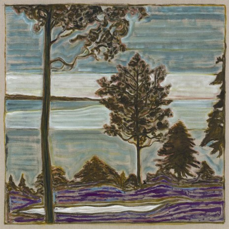 Billy Childish, tree overlooking sea, 2017 , Lehmann Maupin