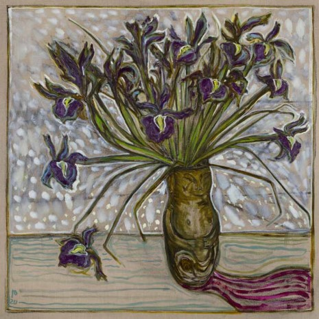 Billy Childish, irises, 2020 , Lehmann Maupin