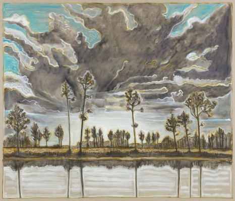 Billy Childish, trees and sky, 2019 , Lehmann Maupin