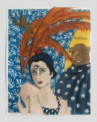 Marcel Dzama, I am her minotaur and she is my matador, 2020, David Zwirner