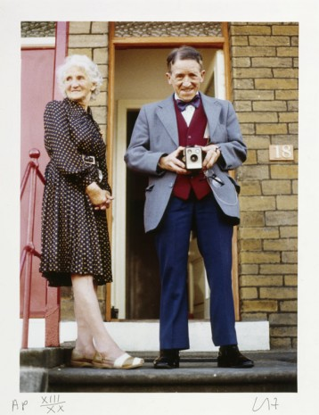 David Hockney, My Parents, Bradford, July 1975 from Twenty Photographic Pictures by David Hockney, 1976 , Galerie Lelong & Co.