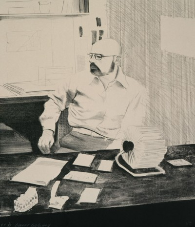 David Hockney, Sidney in His Office, 1976, Galerie Lelong & Co.