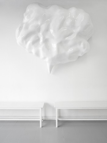 Jürgen Drescher, White speech bubble, 2012, rodolphe janssen