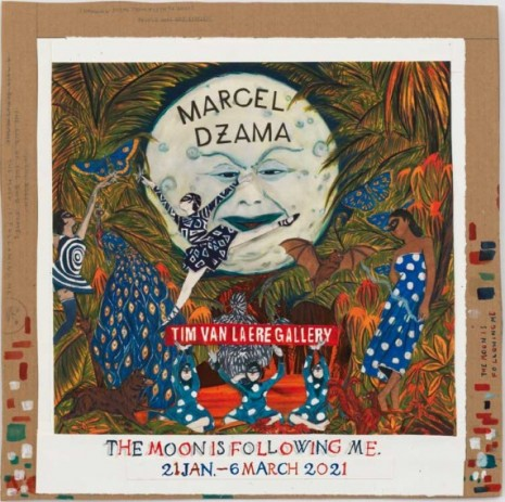 Marcel Dzama, The moon is following me, 2020 , Tim Van Laere Gallery