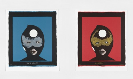Marcel Dzama, Red Dracula and Dracula Blues (accompanying screenprints for Dance Floor Dracula, Prelude in C-Sharp Minor), 2018 , Tim Van Laere Gallery