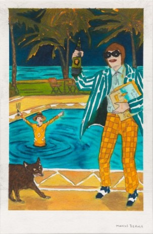 Marcel Dzama, A purgatory pool party, 2020 , Tim Van Laere Gallery