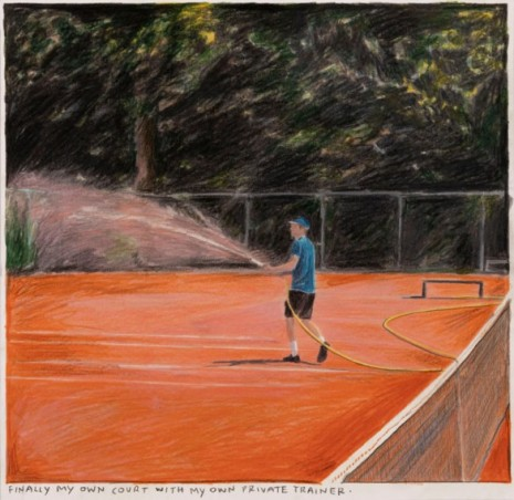 Rinus Van de Velde, Finally my own court..., 2020 , Tim Van Laere Gallery