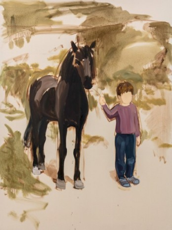 Gideon Rubin, Boy and Horse, 2019 , Monica De Cardenas