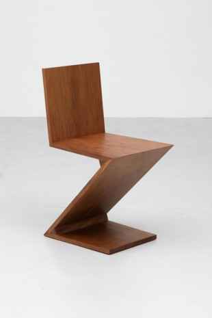 Simon Starling , A Zig-Zag Chair designed by Gerrit Rietveld in 1934 and reproduced using 45,910 year-old swamp kauri wood in 2015, 2015 , Casey Kaplan