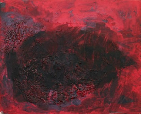 Henrik Olesen, intestine, red, black, 2020 , Galerie Buchholz
