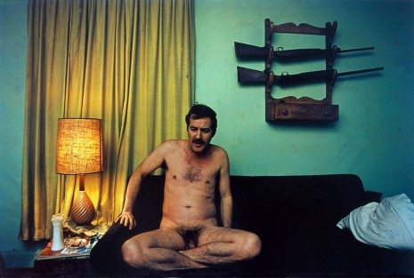 William Eggleston , Untitled (Naked T.C. on Couch) Greenwood, MS [from Dust Bells 2], 1972 , Cheim & Read