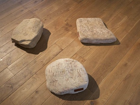 Ian Hamilton Finlay, Three Inscribed Stones, 1977, Ingleby Gallery