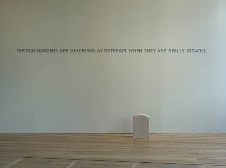 Ian Hamilton Finlay, Certain Gardens are Described as Retreats When They Are Really Attacks, 2005 - 2012, Ingleby Gallery