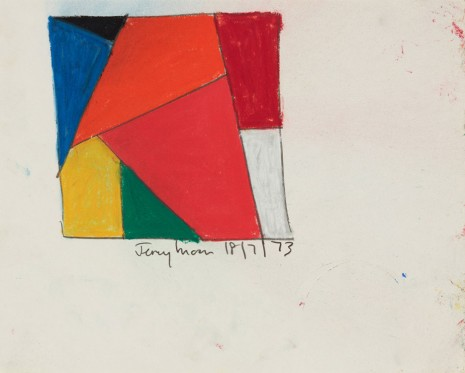 Jeremy Moon, Drawing [18/7/73], 1973 , Luhring Augustine
