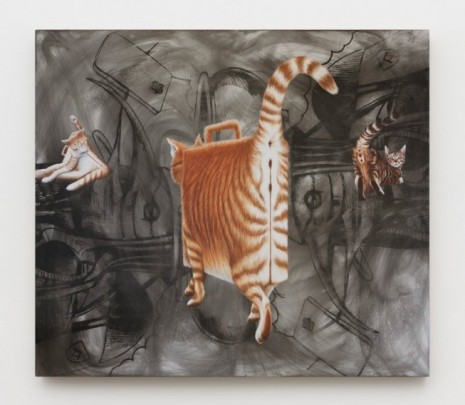 Jim Shaw , Briefcase Cats, 2019 , Praz-Delavallade