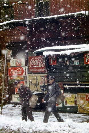 Saul Leiter, Postmen, 1952 , Howard Greenberg Gallery