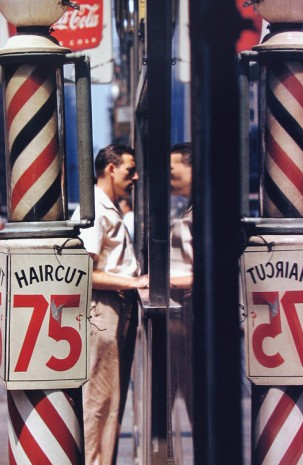 Saul Leiter, Haircut, 1956 , Howard Greenberg Gallery