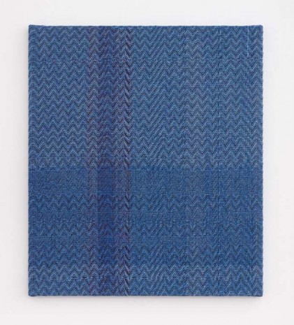 Heather Cook , Shadow Weave Fluorescent Blue + Denim (5132) 8/2 Cotton 20 EPI, 2020, Praz-Delavallade