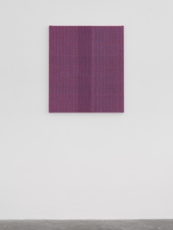 Heather Cook , Shadow Weave Fluorescent Blue + Scarlet (5116) 8/2 Cotton 20 EPI, 2020, Praz-Delavallade