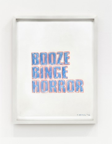 Sarah Morris, BOOZE BINGE HORROR, 1996 , The Mayor Gallery