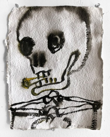 Chris Martin , Untitled (Skull), 2020 , rodolphe janssen