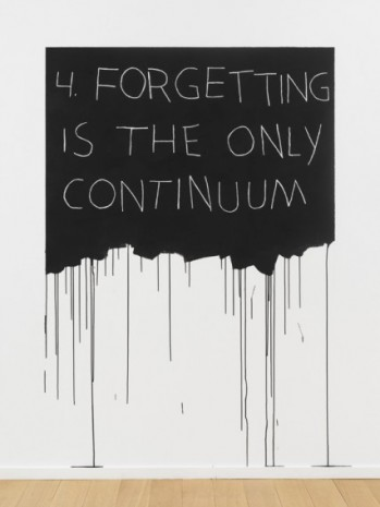 Mel Bochner , Forgetting Is The Only Continuum, 1970 / 2018 , Simon Lee Gallery
