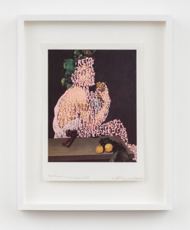 Betty Tompkins , Apologia (Caravaggio #5), 2018 , Simon Lee Gallery