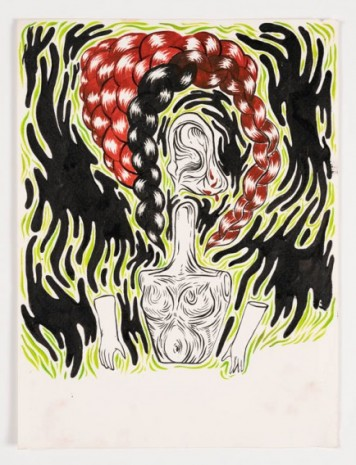 Grimes, Untitled (notebook drawing #2), 2006-2008 , Maccarone