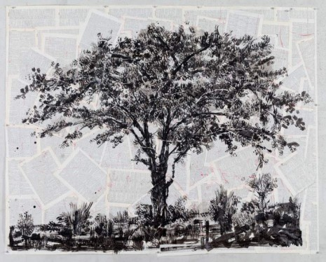 William Kentridge, Drawing for Waiting for the Sibyl (Lone Tree), 2019, Lia Rumma Gallery