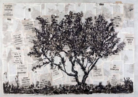William Kentridge, Drawing for Waiting for the Sibyl (It reminds me of something), 2019 , Lia Rumma Gallery