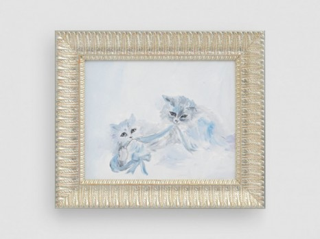 Karen Kilimnik , cats playing in the snow, Siberia, 2020 , Galerie Eva Presenhuber