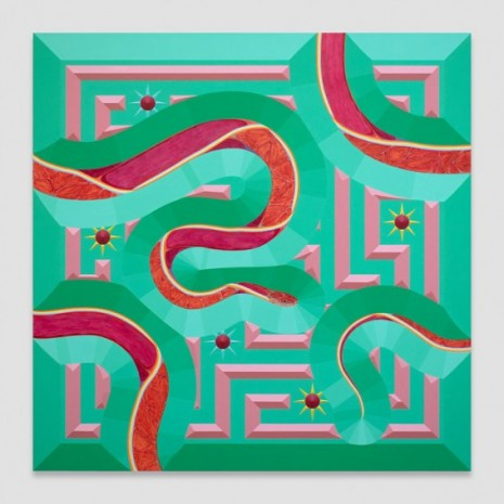 Greg Parma Smith , Red Snake Scene in Felicitous Continuity, 2020 , Petzel Gallery