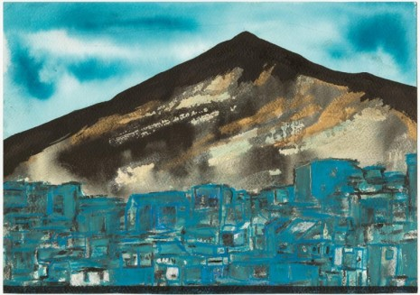 Marcel Dzama, Chefchaouen, the Blue City, 2018, David Zwirner