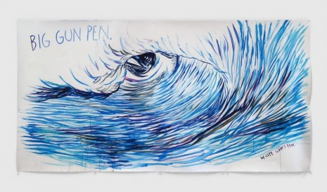 Raymond Pettibon, No Title (Big gun pen.), 2020, David Zwirner