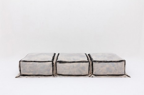 Faye Toogood, Maquette 248 / Canvas and Foam Daybed, Charcoal, 2020, Friedman Benda